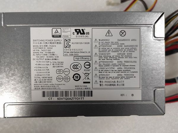 PCD010 HP Pavilion 500 110 24-Pin ATX PSU 742317-001 751589-001