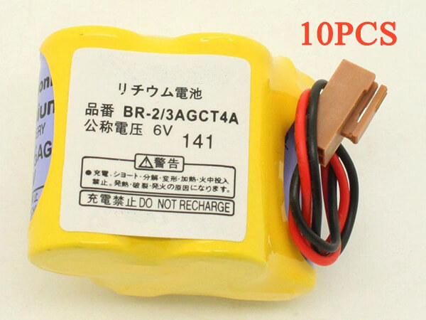BR-2/3AGCT4A FANUC A98L-0031-0011 PLC Battery 10pcs Brown Plug