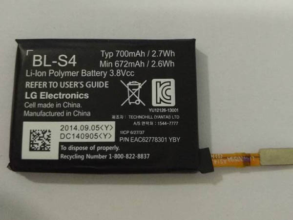 BL-S4 LG BL-S4 Watch Battery